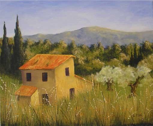 Peinture Le Cabanon Dans Les Hautes Herbes