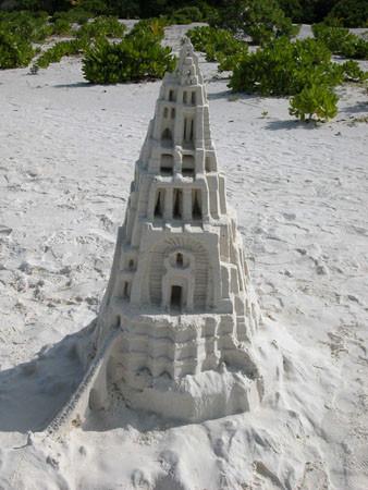 Châteaux de sable - Maldives