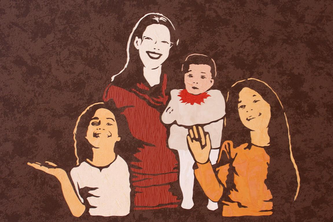 Mère et ses 3 filles