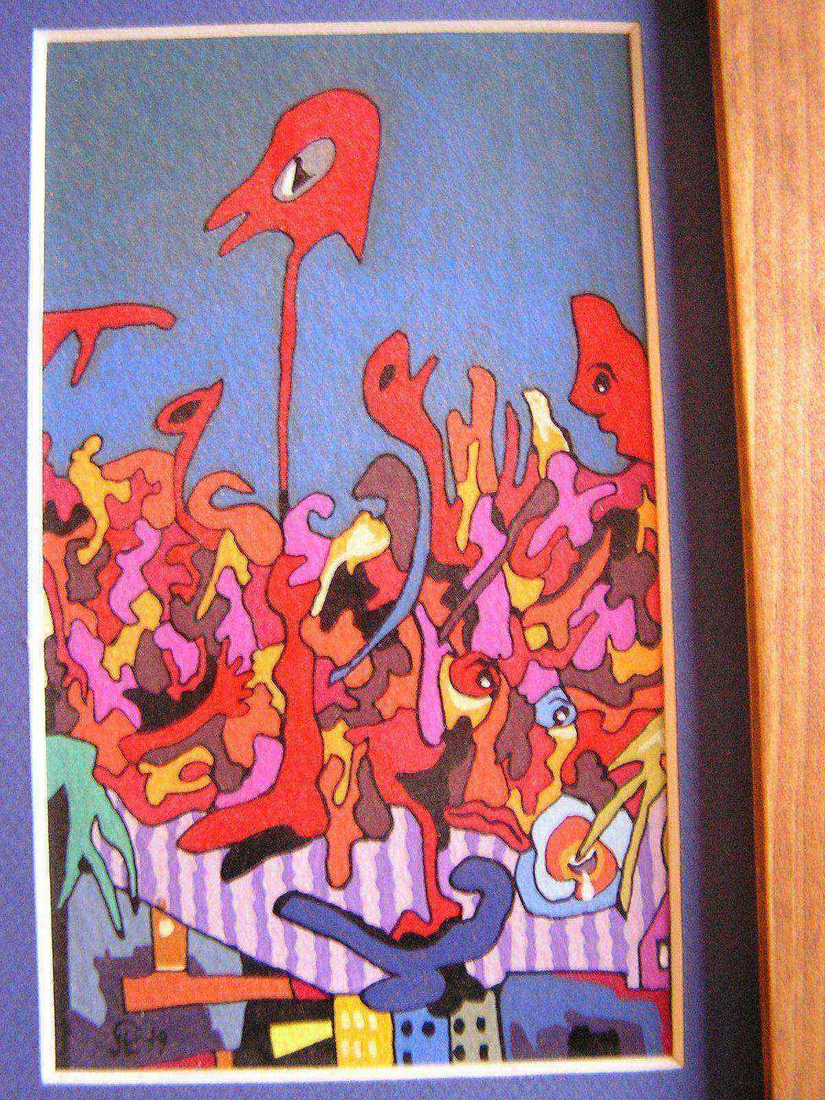 Peinture tableau d oeuvre moderne a l huile - Tableau peinture a l huile moderne ...