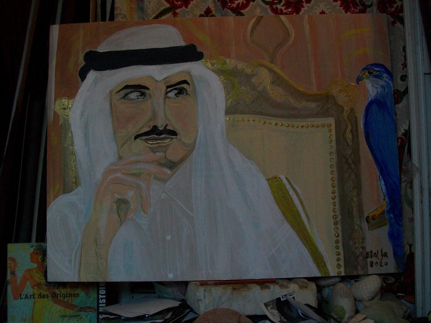 """"""" Le Prince et l'oiseau ... """"  ( Emir Tamim du Qatar )"""