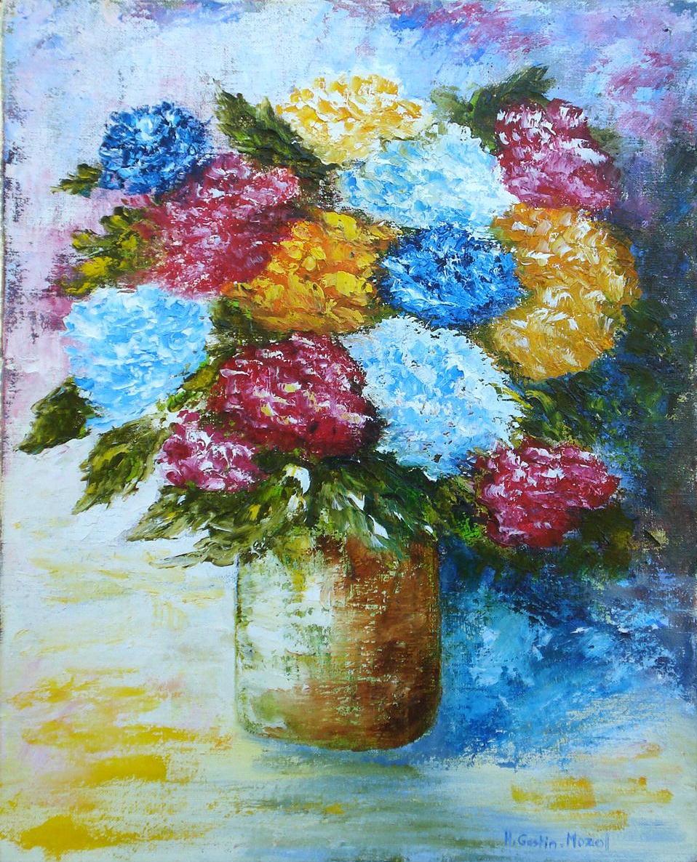 Bouquet aux hortensias