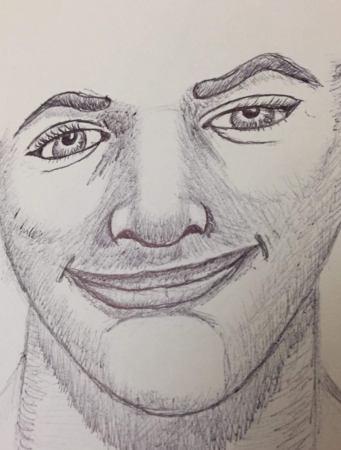 Ink pen face