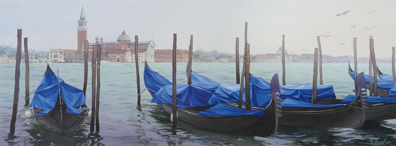 Peinture Gondoles 224 Venise