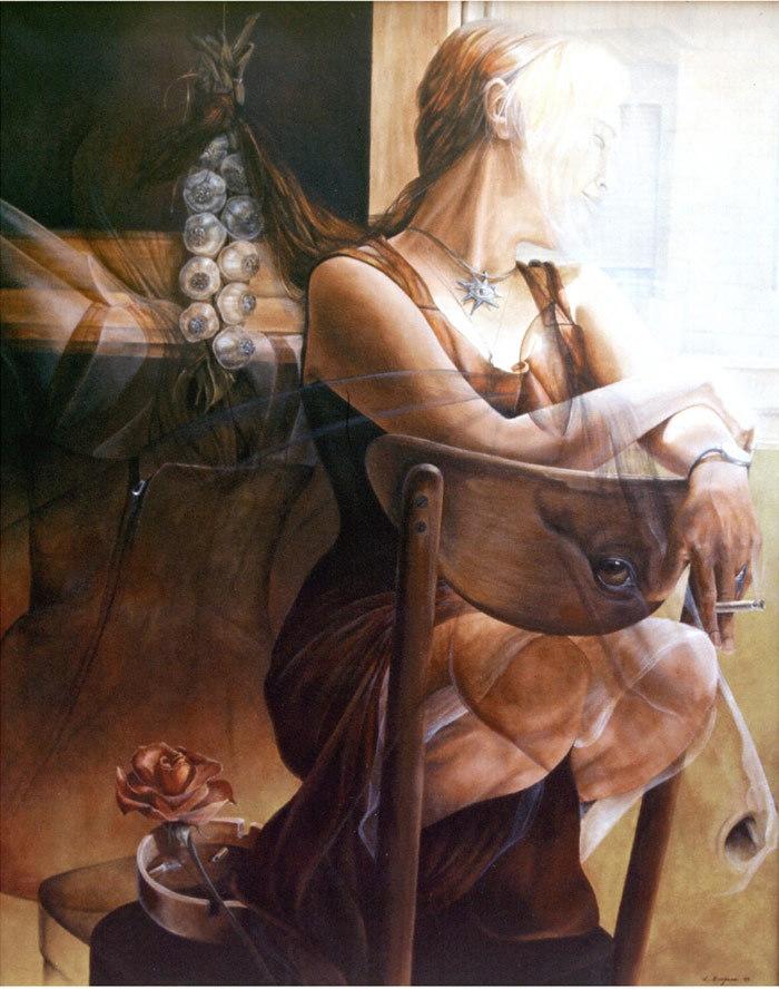 autorretrato con caballo