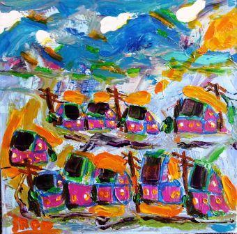 Tites maisons roses