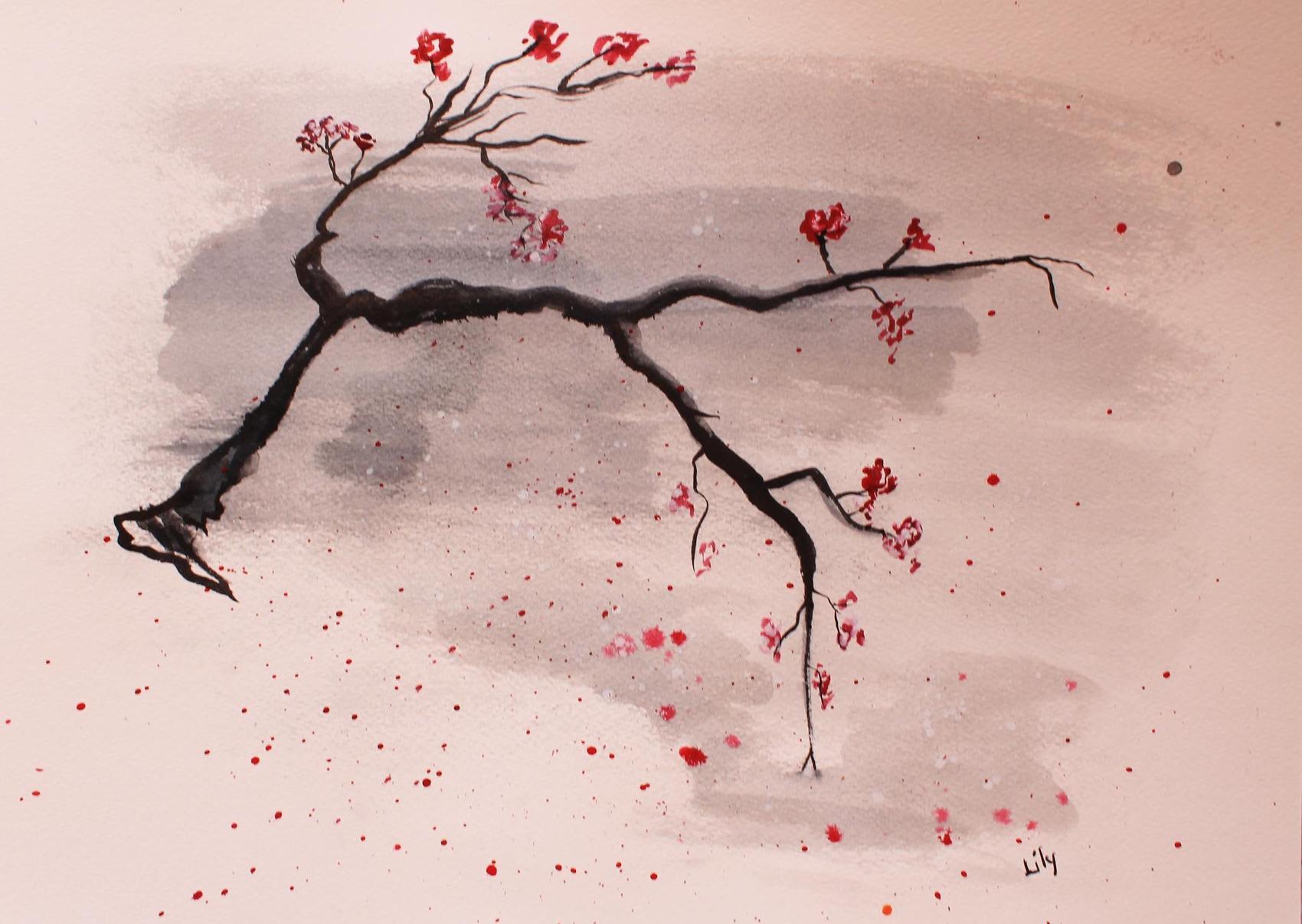 Dessin cerisier - Cerisier dessin ...