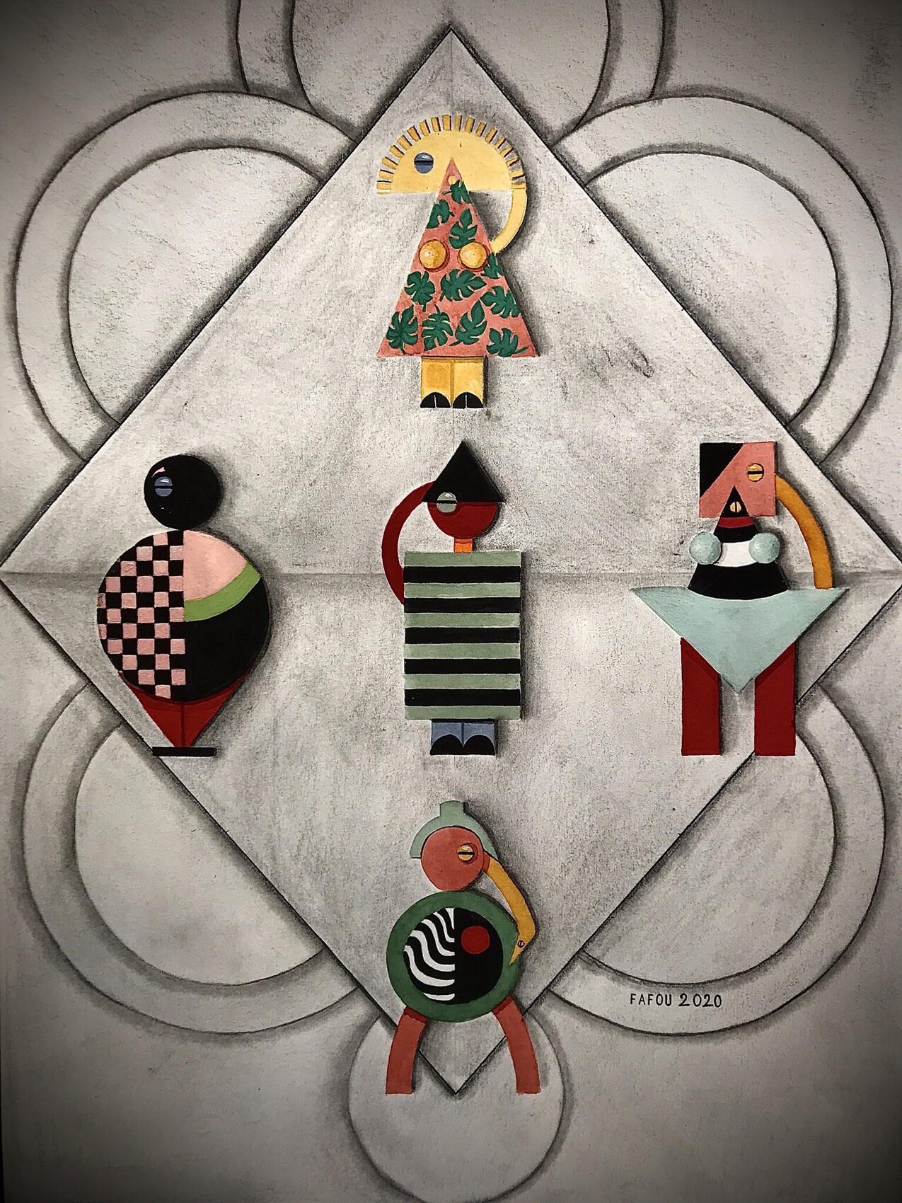 Figurines façon Bauhaus