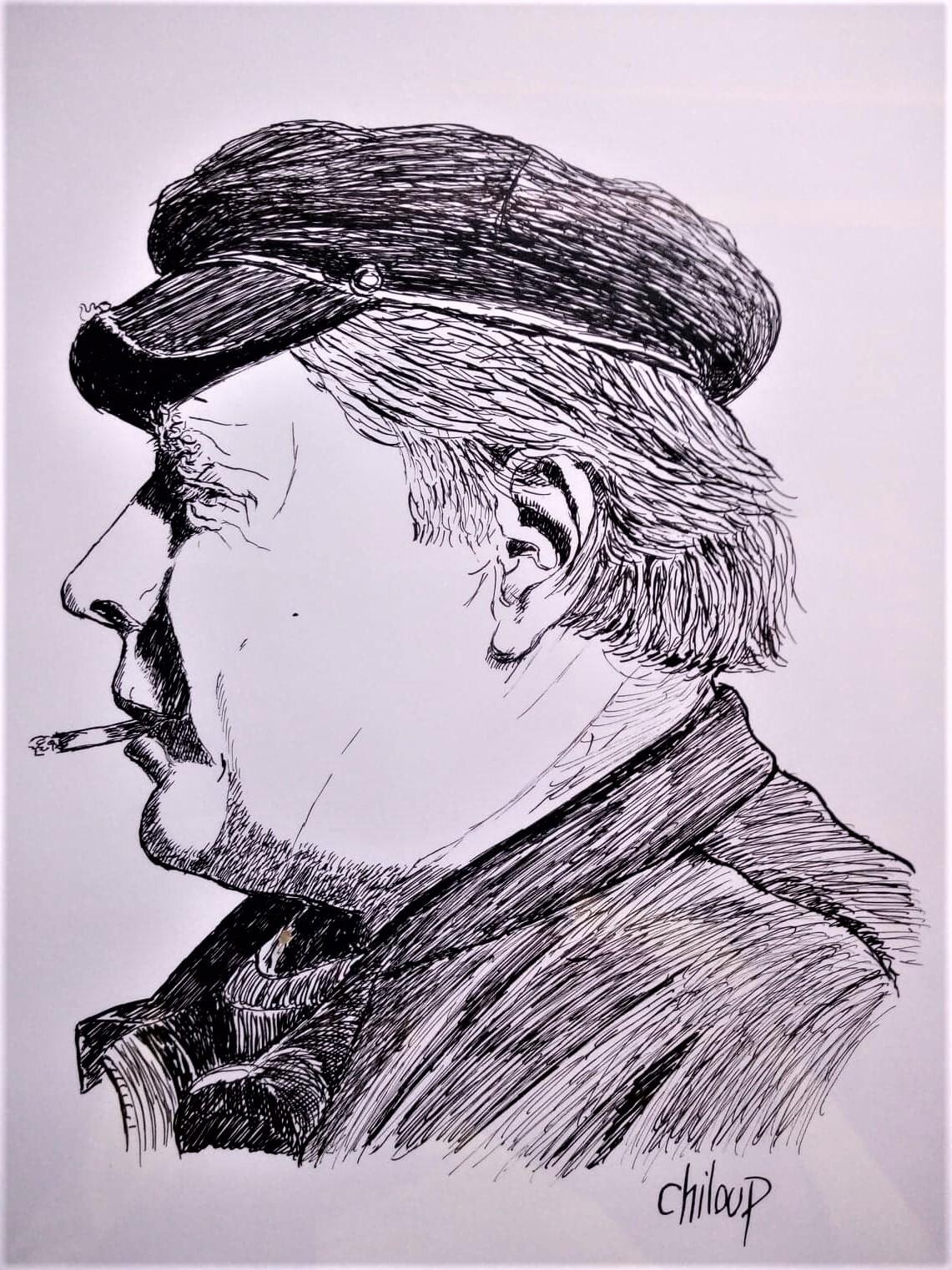 Portrait de marin à la cigarette