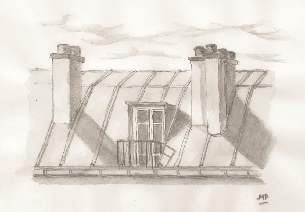 Dessin dessin toit de paris for Toit de maison dessin