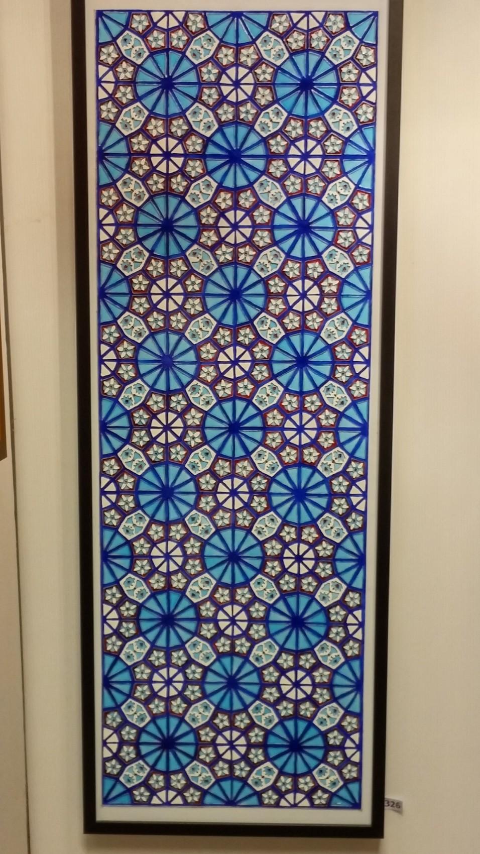 Peinture Arabesque bleue