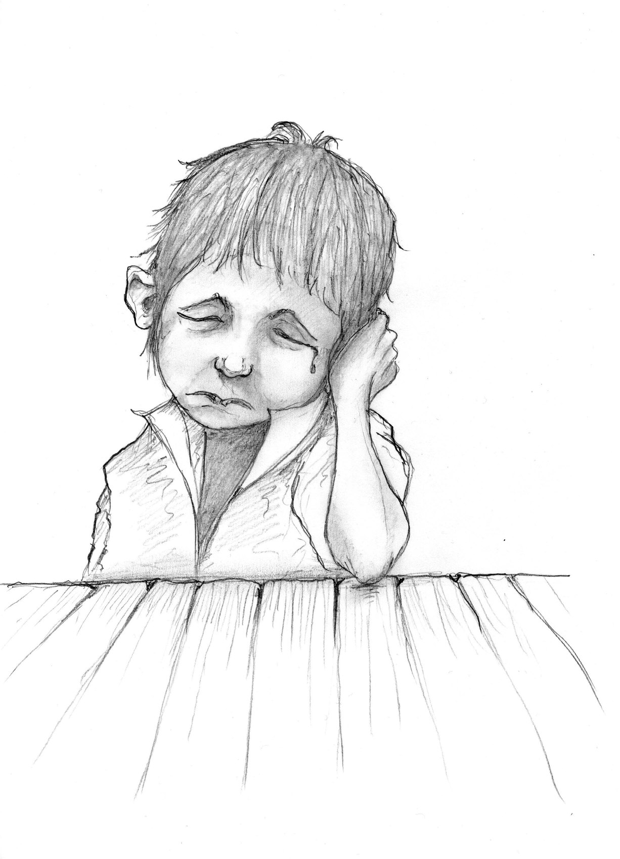 Dessin petit lutin triste d 39 apr s monge - Dessin triste ...