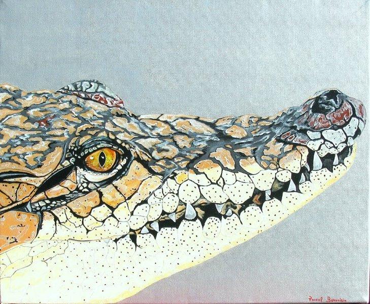 peinture crocodile