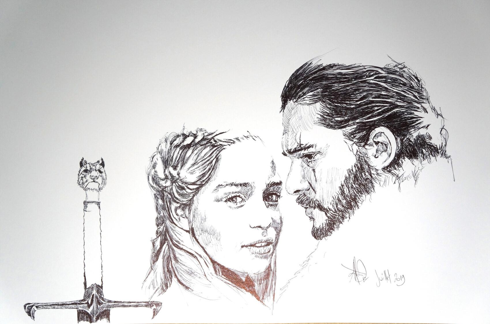 got Daeneris et Jhon Snow