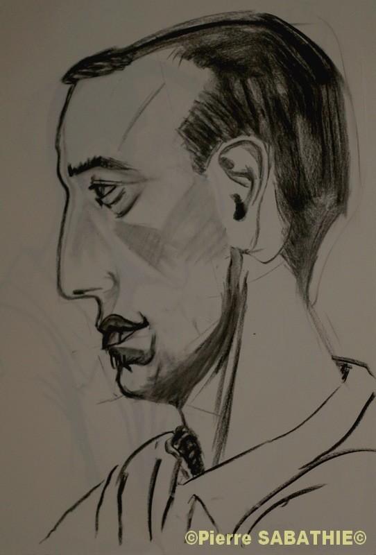 Dessin etudes homme de profil - Profil dessin ...