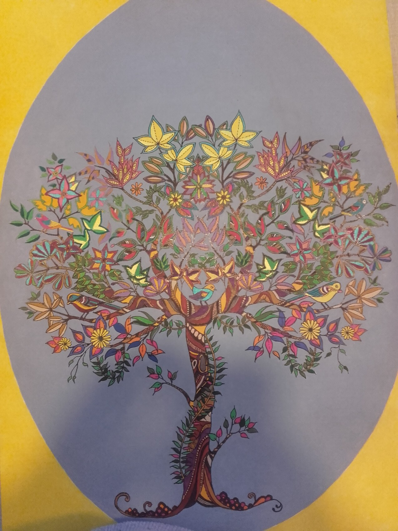 arbre multicolor