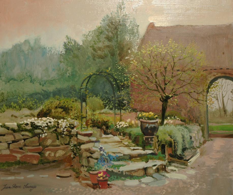 Peinture jardin fleuri for Brulots de jardin