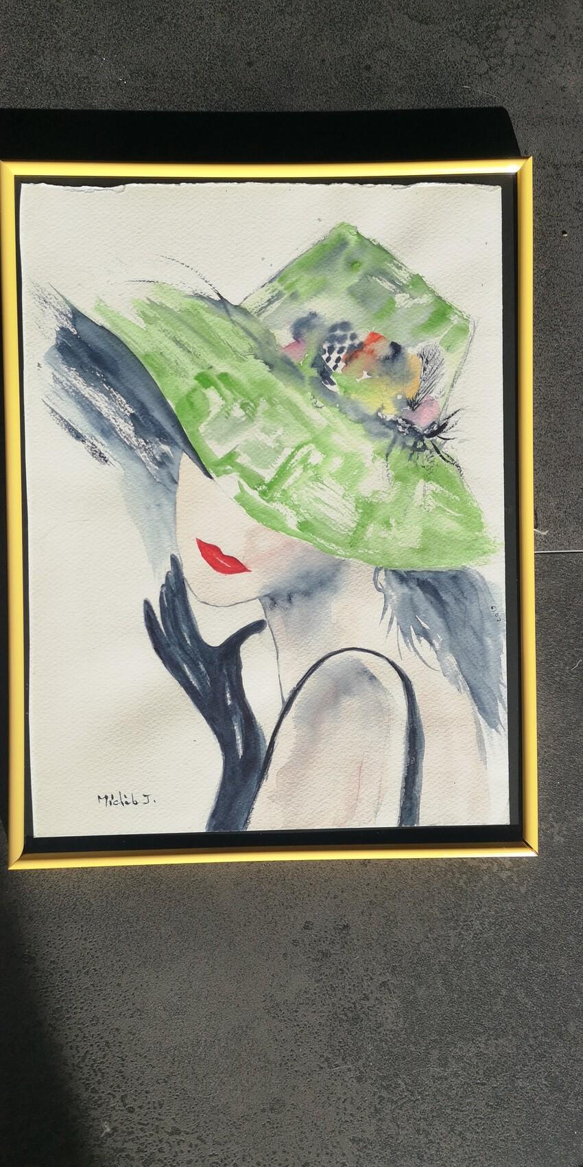 La dame au vert chapeau