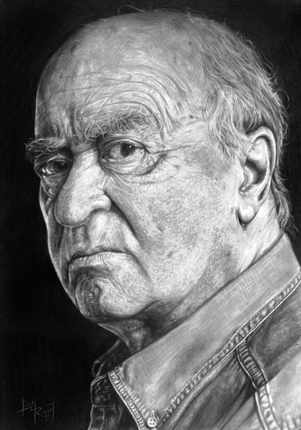 portrait hommage à George Wolinski