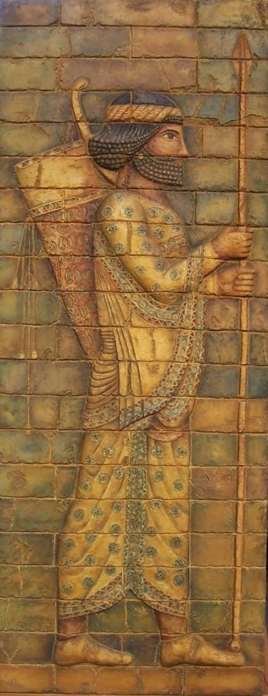 Arquero babilónico I. med: 48x116x3 cm.
