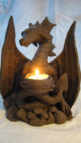 Dragon photophore avec bougie
