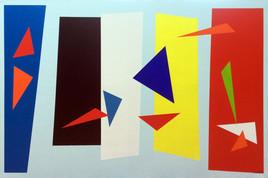 Composition de couleurs aux oiseaux