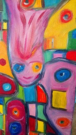 La femme aux couleurs