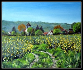 Village de courdimanche vu des champs