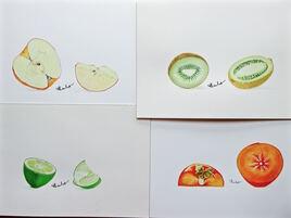 Fruits coupés / Painting Cut fruits
