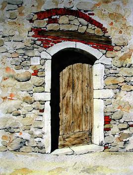vieille pierre et porte ensoleille