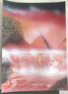 Cascade et  pyramides