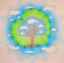 j'aime les arbres... inspiration Magritte..