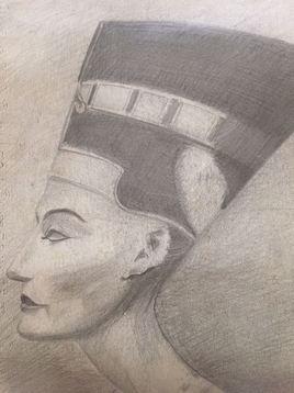 D102 Buste de NEFERTITI Reine d'Egypte