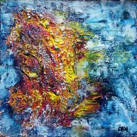 abstrait volcanique