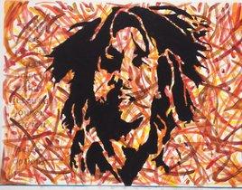 Peinture Bob Marley acrylique