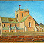 L' église saint Nicolas à Barfleur Cotentin.