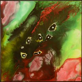 Peinture abstraite à la peinture acrylique : Eclosion in Vitero