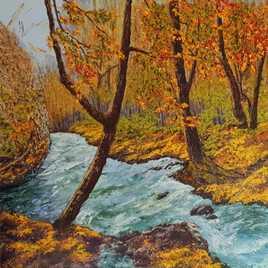 Automne en foret -Roquefort des Cascades