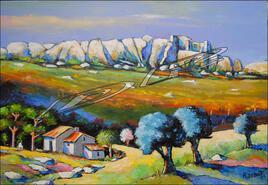 Vers la vallée des Baux de Provence