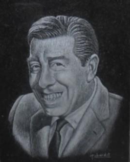 Portait du comédien Fernandel (1903 - 1971)