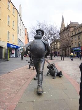 Desperate Dan and Dawg, son fidèle compagnon (Dundee - Ecosse)