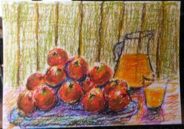 Pomme orange.