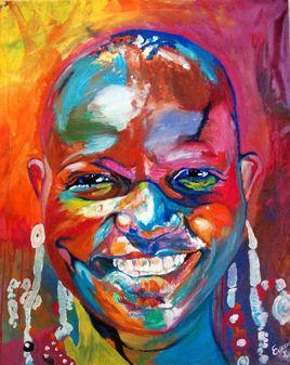 African Portrait Painting par EFART: Elkechai Fayçal ART