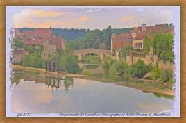 Croisement de la Brenne et du Canal de Bourgogne à Montbard
