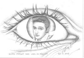 Elvis Presley dans l'oeil au féminin dessin