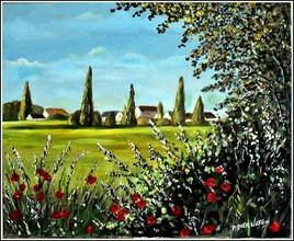 Nozay vu des champs (sur le motif)