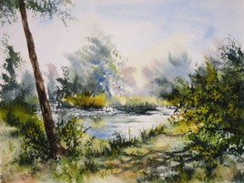 Le long de l'étang