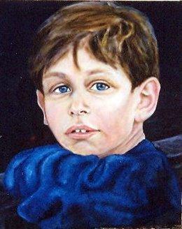 Garçonnet au pull bleu