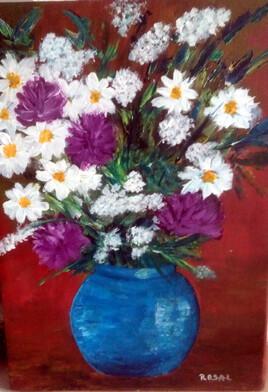 Brassée de fleurs dans un vase