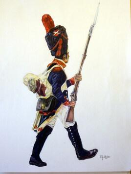 GROGNARD Chargeant 1er Empire